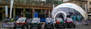 Event domes for the Renault Z.E. Tour at Covent Garden